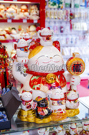 lucky cats in chenghuang miao city