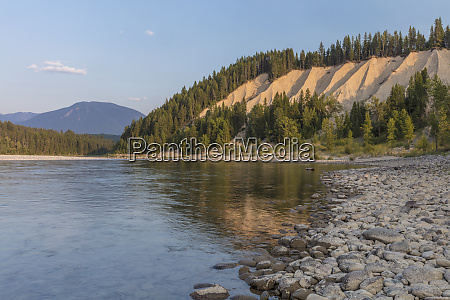 clay cliffs along the flathead river