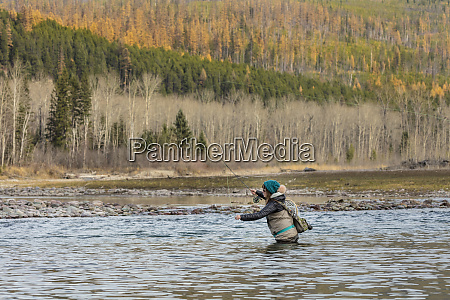 fly fishing on the middle fork