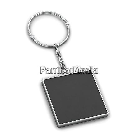 blank metallic keychain mockup
