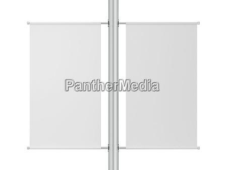 blank pole banner mockup