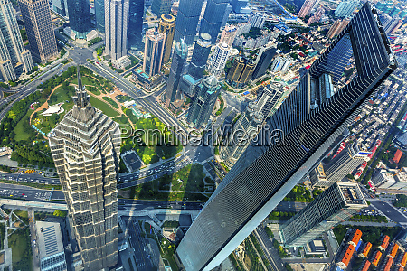 looking down on black shanghai world