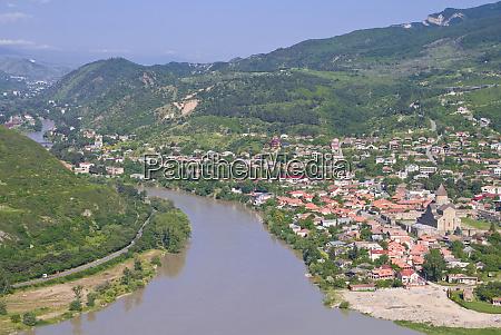 panorama of mtskheta georgia