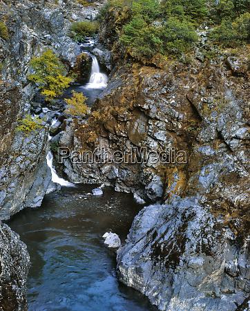 usa oregon stair creek falls along