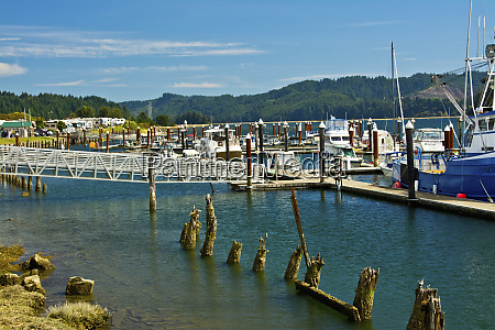 docks siuslaw river florence old town