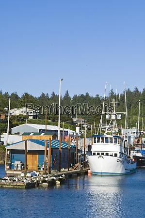 usa or newport fishing boat in