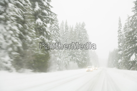 winter driving conditions on mount hood