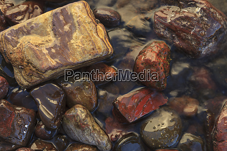 river rocks naturally polished in lower