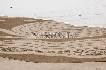 usa oregon bandon beach geometric drawings
