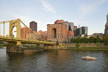 usa pennsylvania pittsburgh boating in front