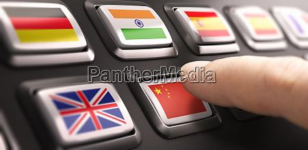 chinese language concept online translation