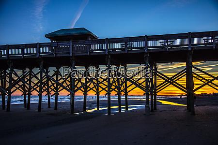 usa south carolina folly beach pier