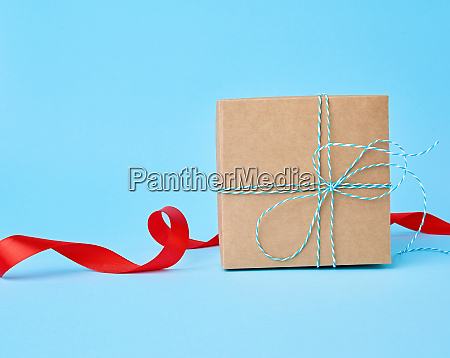 square brown cardboard box for a