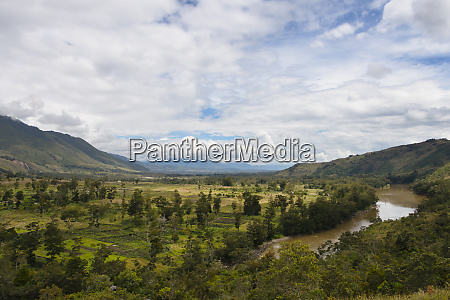 landscape of baliem valley wamena papua
