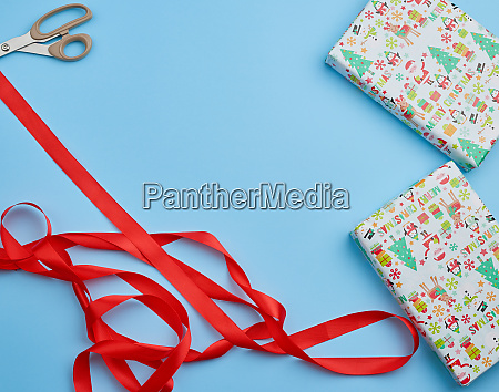gift wrapped in multi colored paper