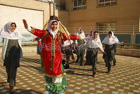 iran teheran group of joyful girls