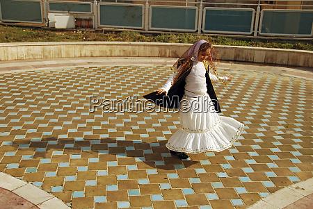 iran teheran joyful girl dancing in