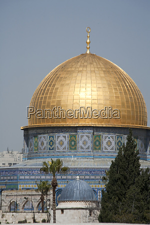 golden dome of the rock mosque