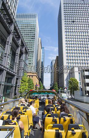 tokyo japan tourist bus double decker