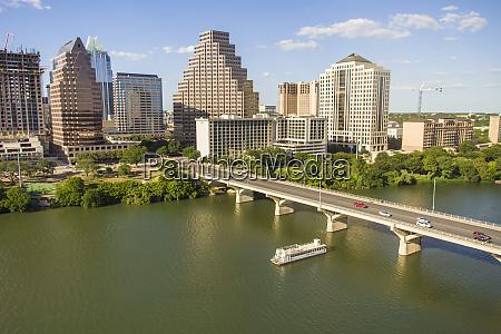 usa austin texas downtown skyline with