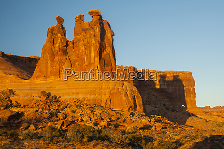 usa utah arches national park the