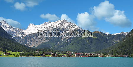 view to village of pertisau at