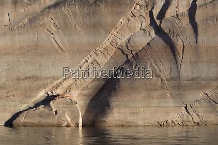 usa utah sandstone canyon wall detail