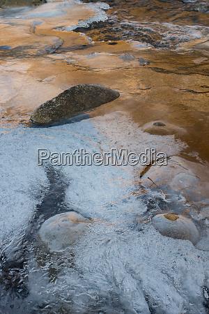 usa utah abstract ice patterns on