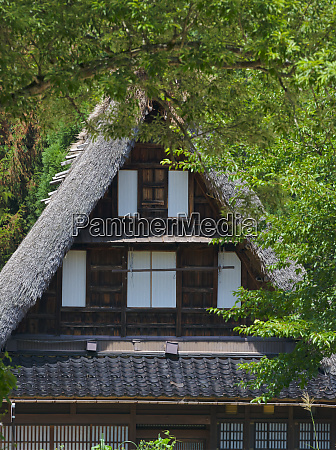 gassho zukuri house in the mountain