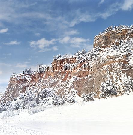 usa utah zion np fresh snow