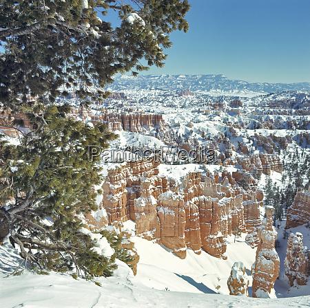usa utah bryce canyon np snow