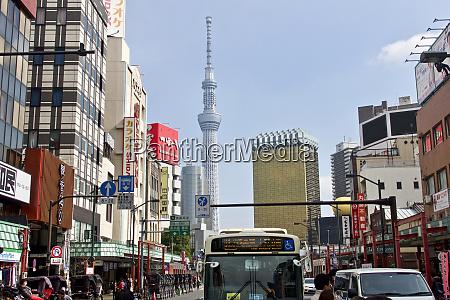 japan tokyo asakusa view of tokyo