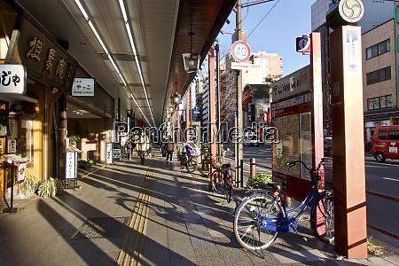 japan tokyo asakusa sidewalk in late