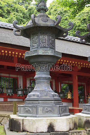 smaller metal and gold lanterns are