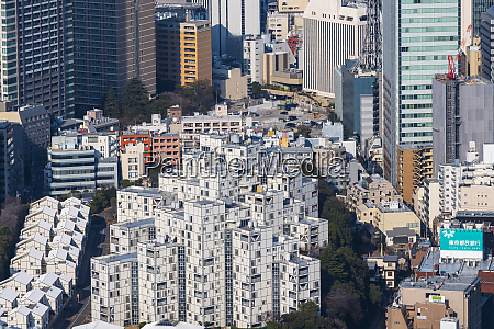 special housing in roppongi amidst towering
