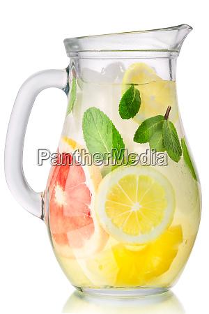 graoefruit mint lemon drink jug paths