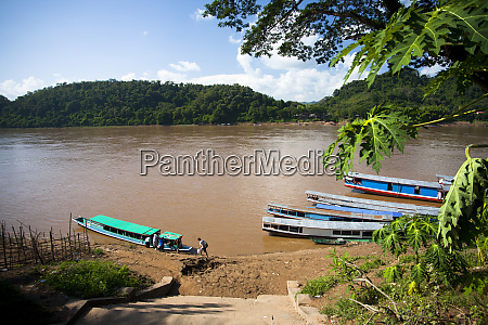 the mekong river port of luang