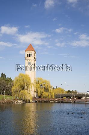 wa spokane riverfront park the clock