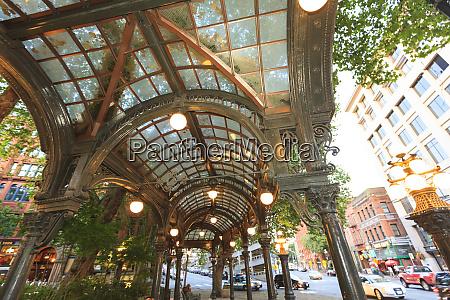 pergola pioneer square historical area seattle