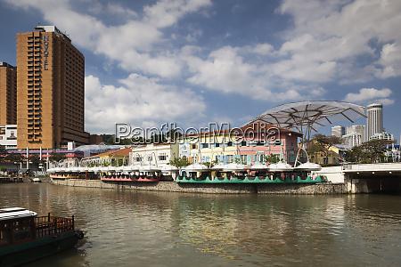 singapore clarke quay entertainment district exterior