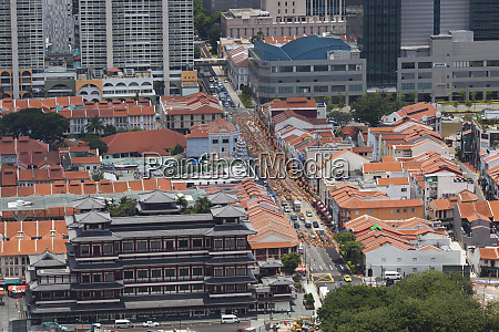 singapore chinatown elevated view