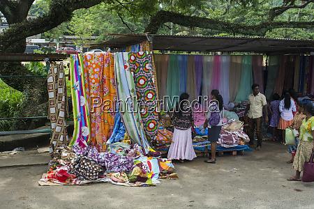 sri lanka countryside textile street vendor