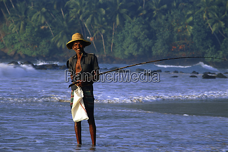 fisherman on the coast sri lanka
