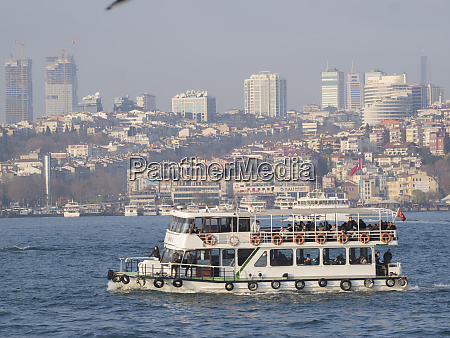 passenger ship at waterfront in istanbul