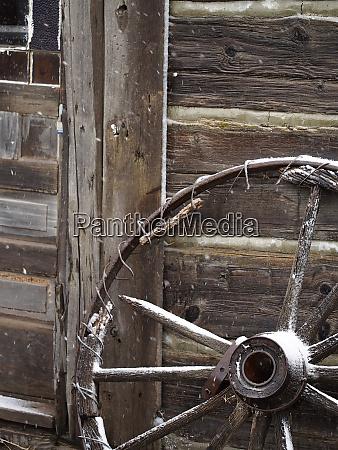 usa wyoming cody old wagon well