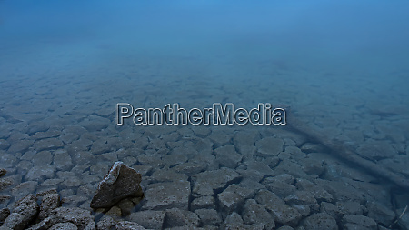 natural shore of lake with patterns