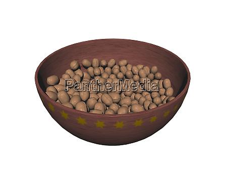 bowl of nuts at christmas