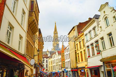 shopping street church brussels belgium
