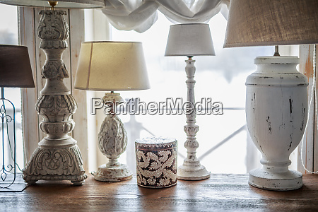 old table lamp standing on the
