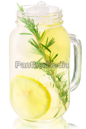 iced rosemary lemonade jar paths